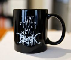 Black Metal Coffee Mug Set Black & Grey by knifemen on Etsy