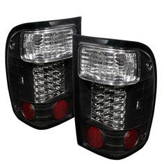 Ford Ranger 1993-1997  Black LED Tail Lights