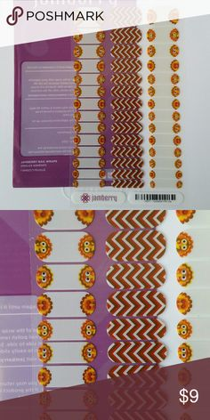 Jamberry Nail Wrap Complete Juniors set  perfect for the Thanksgiving  lover in your life! Pattern: Gobble Me Up Jamberry Makeup