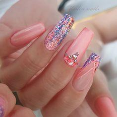 Cute Summer Nail Designs, Popular Nail Designs, Gel Nail Art Designs, Creative Nail Designs, Colorful Nail Designs, Nails Design, Pretty Nail Art, Summer Nails, Nailart