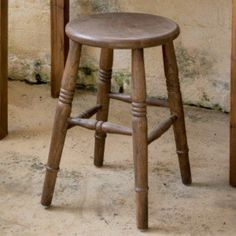 Country Home Wooden Backless Stool