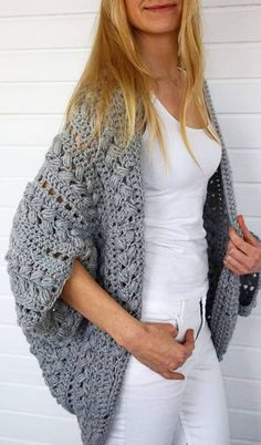 Cute and Easy Stylish Sweater & Cardigan Crochet Patterns Images for 2019 - Page 20 of 47 - Crochet & Knit - Cardigan , Coat - Crochet Sweater Design, Crochet Cardigan Pattern, Crochet Shirt, Crochet Jacket, Crochet Patterns, Cardigan Design, Scarf Design, Crochet Ideas, Crochet Clothes