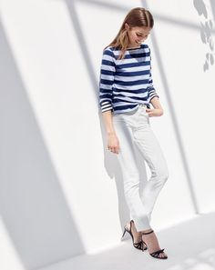 "The J.Crew women's lookout high-rise jean. As in ""Look out! Your legs are doing amazing things in those jeans."""