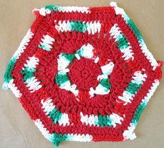 #198 Holiday Hexagon Crochet Dishcloth – Maggie Weldon Maggies Crochet