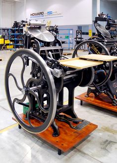 Westman & Baker Platen Press (a Canadian company manufacturing Gordon style platen presses).