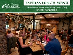 Looking for the perfect lunch? Try our three-course express lunch menu now available at Cucina Calandra! Enjoy a soup or salad, your favorite Italian entrée, and a delicious homemade dessert. Call for more info (973) 575-7720!