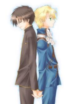 Murata and Wolfram from Kyo Kara Maoh! This ship needs more love! Maruwolf!~<3