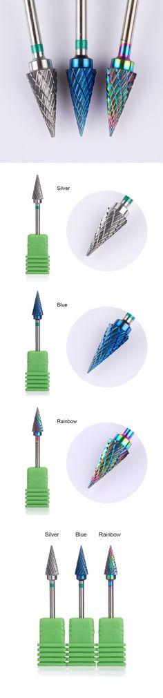 1 Pc Rainbow Tungsten Carbide Burr Nail Drill Bit Manicure Nail Art Tool Electric Drill Accessories from bornprettystore.com