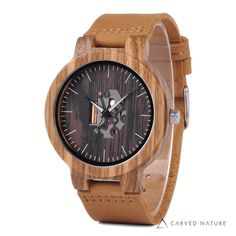 Buy Online Minimalist Wood Watch A beautiful handmade wooden timepiece for men who like to keep things simple & classy. The minimalist & elegant looks portrays your personality like nothing else can. Wooden Watches For Men, Wooden Case, Watch Sale, Watch Brands, Wood Watch, Soft Leather, Black Leather, Bracelets, Quartz