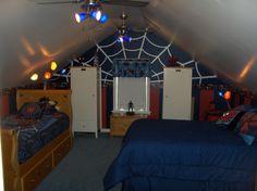 Cape Cod Attic Bedroom Ideas | Spider Man Bedroom   Boysu0027 Room Designs