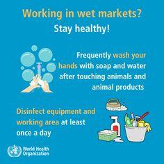 Stay healthy when working at wet markets - corona health tips Health And Safety, Health And Wellness, Health Care, Health Fitness, Healthy Tips, How To Stay Healthy, Healthy Mind And Body, World Health Organization, Hand Hygiene