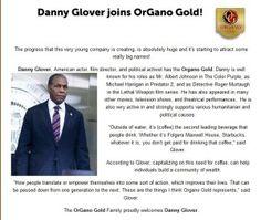 Danny Glover v Organo Gold
