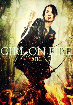 Hunger games katniss girl on fire Katniss And Peeta, Katniss Everdeen, Hunger Games Catching Fire, Hunger Games Trilogy, About Time Movie, Film Music Books, Mockingjay, Geek Girls, I Love Books
