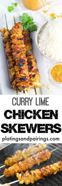 Chicken Skewers are Quick and Easy to make platingsandpairings.com