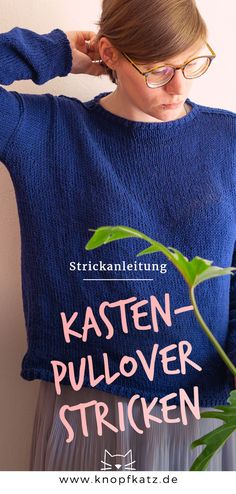 Free knitting instructions for a super simple sweater that can be easily adjusted and can also be implemented in other patterns and colors. You only have to knit and sew two identical parts twice for this sweater. Knitting Blogs, Knitting Stitches, Free Knitting, Knitting Projects, Knitting Patterns, Crochet Patterns, Loom Knit, Fair Isle, Diy Mode