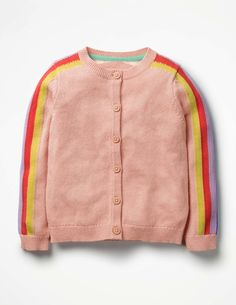 We've knitted the entire rainbow into this colourful cardigan. The cotton mix makes this long-sleeved knit supersoft and cosy. With flower details and contrasting cuffs, it's sure to bring a ray of sunshine to the playground. Toddler Boy Outfits, Toddler Fashion, Boy Fashion, Kids Outfits, Baby Outfits, Fall Fashion, Fashion Design, Rainbow Cardigan, Girls Sweaters