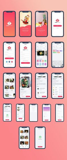 Home Kitchen is a food ordering and delivery iOS app UI kit compatible with Adobe XD. Ios App Design, Mobile App Design, Web Design, Interface Design, Interface Web, Iphone App Design, Android App Design, Android Art, Mobile Ui