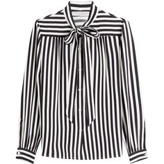 Philosophy di Lorenzo Serafini Striped Blouse (5.142.545 IDR) ❤ liked on Polyvore featuring tops, blouses, shirts, stripes, white shirt, stripe top, striped top, white stripes shirt and white blouse