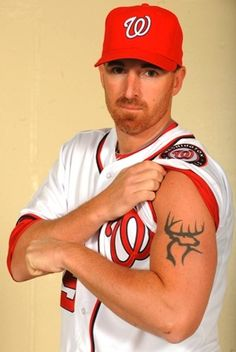 MLB slugger Adam Laroche is a co-owner of Buck Commander and shows his passion for hunting on his arm!