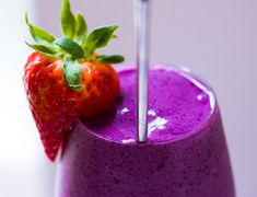 Strawberry Festival Smoothie. Rich in fiber, potassium, vitamin C, and Berry Phytochemicals...