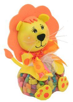 Regalo para niños / Fiestas infantiles / Dulceros / Dulces / Baby Shower / Leon