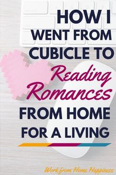 I Went from Cubicle to Reading Romances for a Living How I Went from Cubicle to Reading Romances from Home for a Living (and how you can too!)How I Went from Cubicle to Reading Romances from Home for a Living (and how you can too! Earn Money From Home, Earn Money Online, Online Jobs, Way To Make Money, Online Careers, Application Utile, Work From Home Opportunities, Job Work, Work From Home Moms