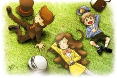 Layton, Emmy, Luke Effect by WolfgangTeam on @DeviantArt