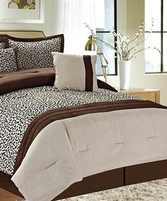 Take a look at the Brown Wonderland Comforter Set on #zulily today!