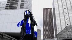 ABD AL MALIK - ALLOGENE on Vimeo réalisé par Romain Cieutat, produit par HK Corp silhouette, bleue, vert, collants, danse, la défense, univers urbain, graphique, architecture, 3D formes, shapes,