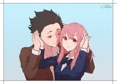 Koe no Katachi, Ishida Shouya, Nishimiya Shouko Sad Anime, Anime Love, Manga Anime, Anime Art, Koe No Katachi Anime, A Silent Voice Manga, A Silence Voice, Vocaloid, Ghibli Movies