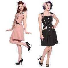 56e7352cb621b4 Banned Ribbon Kitsch Rockabilly 40ER 50ER Vintage Pinup Party Ball Kleid |  eBay