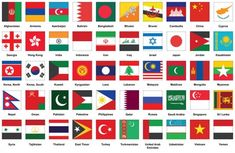 Vector Stock Images, Royalty-Free Images vectors for personal and commercial use. Set of square icons with Asian flags Flags Of European Countries, Countries And Flags, African Countries, All World Flags, World Country Flags, Sri Lanka, Laos, Seychelles, Asian Flags