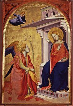 Taddeo Gaddi - Annunciazione - 1340-1345 circa - tempera e oro su tavola - Museo Bandini - Fiesole