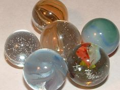 1940s to 1950s marbles GORGEOUS soft colors these are by mls104