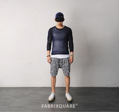 Mens Petal Embroidered Pattern Wrinkled Easy Shorts at Fabrixquare