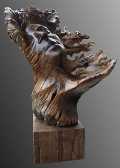 Sculpture in wood - Feeling The Breeze.