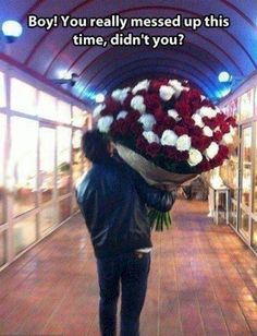 5. The only time flowers are delivered is when something is wrong. Despite being aimed at women, I'm pretty sure men will keep flower shops in business for centuries to come.