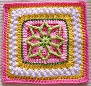 """Ravelry: Precious 6"""" and 9"""" Afghan Square pattern by Julie Yeager"""