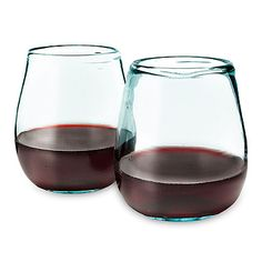 Gorgeous recycled & handmade wine glasses - love the substantial feel of these