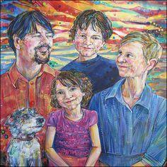 Family portrait painting.