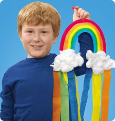 Summer Rainbow at Lakeshore: A vibrant rainbow craft kids will love to make & display!