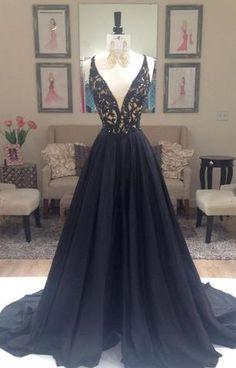 L53 Elegant Deep V-Neck Prom Dresses,Sexy Prom Dresses,Off Shoulder Prom Dresses