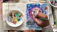 PAINTING WHIMSICAL ART GIRL IN OUTER SPACE // SKETCH & PAINT // FLYING // - YouTube