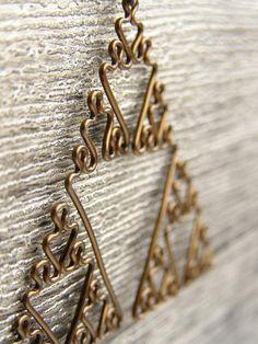 Sierpinski Triangle  Fractal Necklace in Antiqued by DragonNerd, $20.00