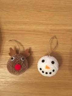 Choice of an individual or a Set of 3 Pompom Christmas tree decorations,in choice of design Christmas decorations, Christmas hanging decorations The d. Christmas Pom Pom Crafts, Christmas Crafts For Kids To Make, Plastic Christmas Tree, Etsy Christmas, Christmas Projects, Yarn Crafts, Kids Christmas, Christmas Tree Decorations, Holiday Crafts