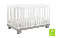 Modo 3-in-1 Convertible Crib with Toddler Rail | Babyletto. Little bigger than the origami option, about the same size as current crib