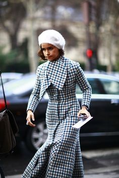 Mira making her way to Dior in a Parisian looking outfit choice in Paris...