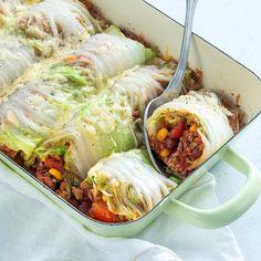 Burritos of cabbage - Burritos of cabbage – Nice recipes - Burritos, Mexican Food Recipes, Beef Recipes, Enchiladas, Healthy Snacks, Healthy Recipes, Happy Foods, Diy Food, Food Inspiration