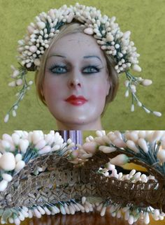 Waves Iron, Marcel Waves, 1920s Hair, Wax Flowers, Finger Waves, Orange Blossom, Hair Brush, Silver Hair, Flower Crown
