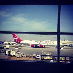 A big two stories Virgin Atlantic plane (LAX airport, Los Angeles)